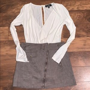Other - Mini skirt and body suit outfit